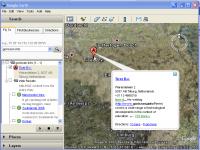 Zoeken in Google Earth - Klik voor grotere versie