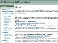 Google Apps ePortfolio - Klik voor grotere versie