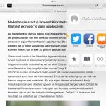 Handig: Reader-weergave van webpagina opslaan als PDF in iBooks