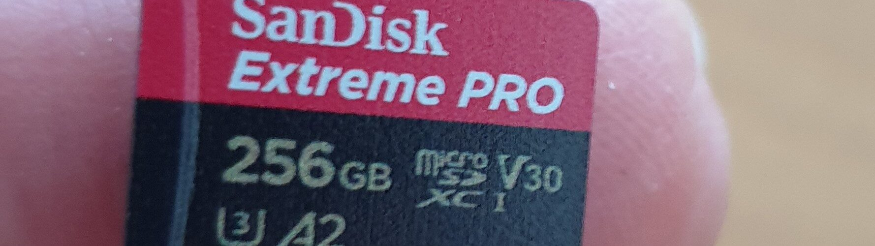 SanDisk 256GB microSD Extreme Pro geheugenkaart U3 A2 170MB/s
