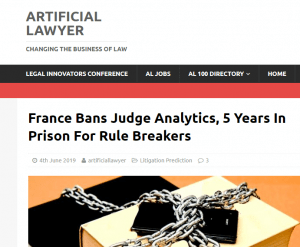 Frankrijk voert verbod in op gebruik Data Analytics op de Rechtspraak