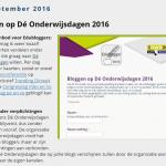 Bloggen tijdens Dé Onderwijsdagen 2016 ?!