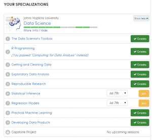 Coursera Data Science Specialization 7/10