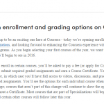 Vaker betalen voor Coursera MOOCs…