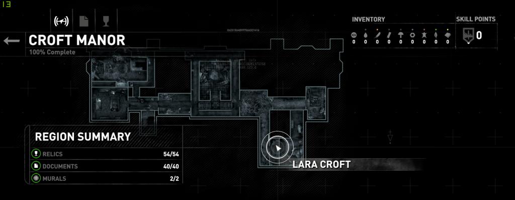 Nou vooruit dan: alle onderdelen van Croft Manor verzameld