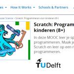 """Nieuwe TUDelft MOOC: """"Scratch: Programmeren voor kinderen (8+)"""""""