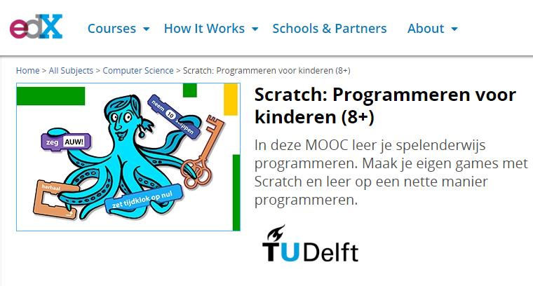 Nieuwe Tudelft Mooc Scratch Programmeren Voor Kinderen 8