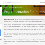 MOOC Tip: Experimentation for Improvement