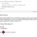 Geavanceerde en gevaarlijke phishing e-mail