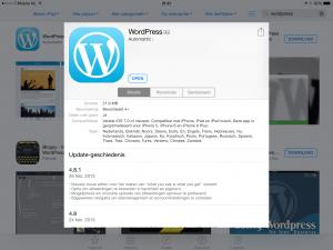 Update van WordPress editor op iOS lost afbeeldingprobleem op.