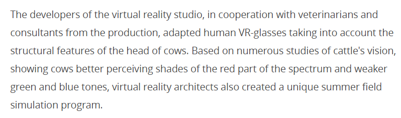 Koeien nu ook aan de VR?