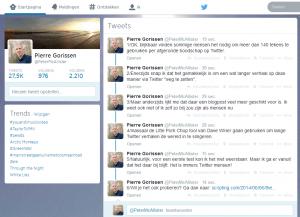 Tweetstorms (in een glas water?)