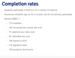 MOOC completion rate