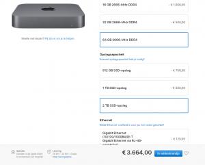 In ander nieuws: Mac Mini basis model is nu bijna 2x zo duur als die van mij