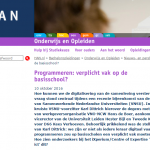 Moeten digitaal vaardige leraren kunnen programmeren?