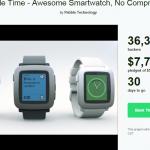 Is het succes van de Pebble Time op Kickstarter een probleem?