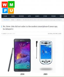 """""""De iPhone was helemaal niet revolutionair 8 jaar geleden!"""""""