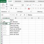 Handig: voornaam en achternaam splitsen in Excel 2013