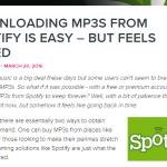 Spotify Download – voor mij hoeft het nog steeds niet…