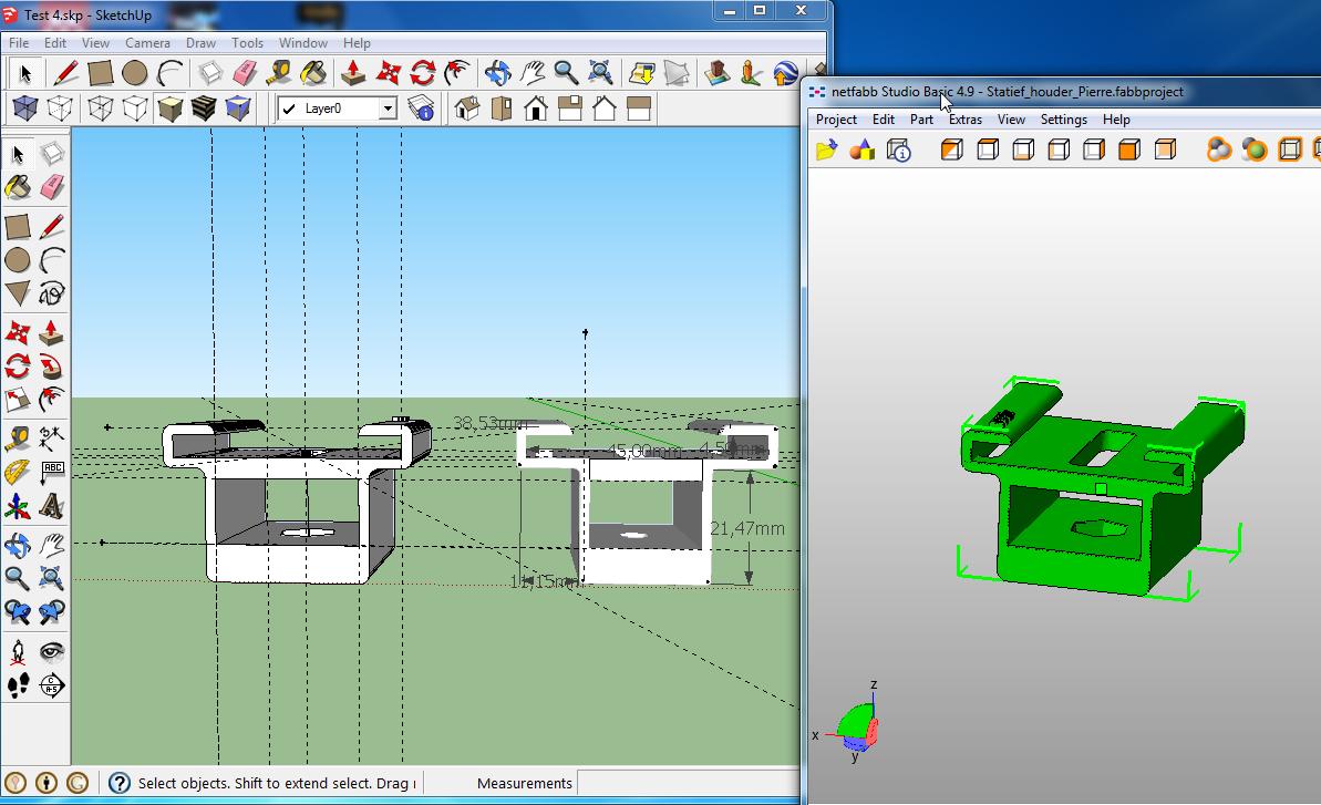 3d ontwerpen en printen webcam houder ict en onderwijs blog