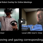 VROOM: Virtual Robot Overlay for Online Meetings