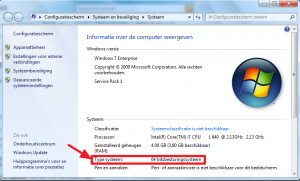 Windows 7 systeemversie