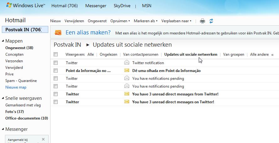Hotmail zet gebruikers op het verkeerde been bij Twitter ...