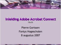 Inleiding Adobe Acrobat Connect