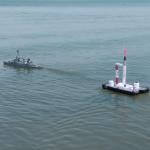 Modelraket lanceren vanaf het water