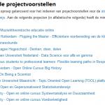 Tweede tranche projecten Open en Online Onderwijs