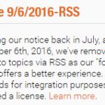 Scoop.it schrapt RSS ondersteuning :(