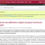 Detectie van adblockers volgens Europese Commissie illegaal