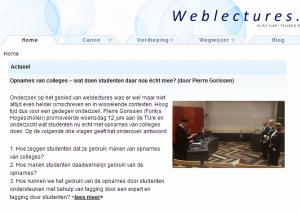 weblectures punt nl